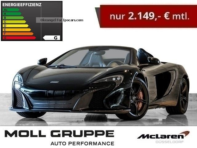 2015 McLaren  650S Spider Carbon Black. Dusseldorf Cabriolet / Roadster Demonstration Vehicle photo