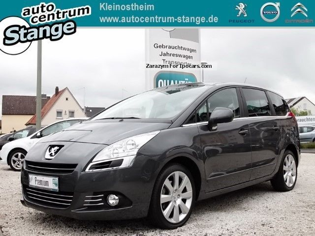 2010 Peugeot  5008 Premium 155 THP Panorama BC Air Temp ZV E Van / Minibus Used vehicle photo
